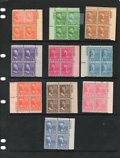 USA - Non Hinged Mint - Presidents Plate Blocks x 10