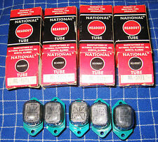 Lot of 5 National NL-5971 13 Segment Alphanumeric Nixie Tubes With Sockets