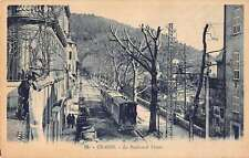Grasse France Street Scene Trolley Antique Postcard J47033