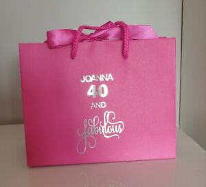 PERSONALISED SMALL LUXURY BOUTIQUE GIFT BAG FOR A BIRTHDAY 18 21 30 40 50 60 etc