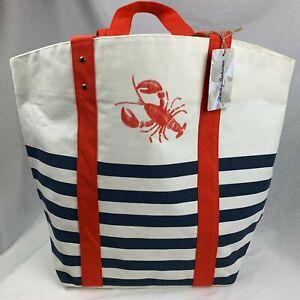 Tommy Bahama Canvas Reusable Beach Bag Tote Lobster Print