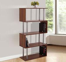 HOMCOM 5 Shelf Storage Bookcase Wooden CD Book Case Unit Storage Shelves