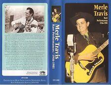 Merle Travis - Rare Performances 1946-1981 (VHS, 1996)