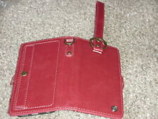 NEW LEATHER iPhone 6 or  6s RED WRISTLET Book Style WALLET Case HOLDER