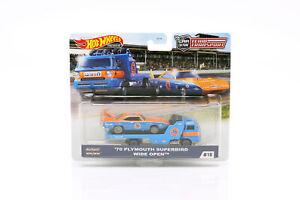 Set Team Transport: Plymouth Superbird 1970 & Wide Open 1:64 HotWheels