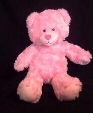 """17"""" Build-A-Bear Workshop Plush Pink Heart Teddy Bear w/ BAB Paw 2016 Stuffed 3+"""