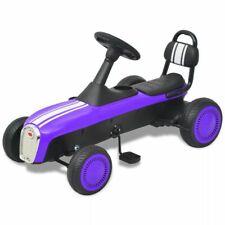 vidaXL Pedal Go Kart Purple Children Kids Ride-on Racing Cart Car Vehicle