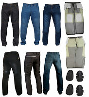Men's Protective Motorbike Jeans Motorcycle Denim Trousers Aramid Protection