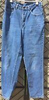 COCA-COLA Mom Jeans High Waist 100% cotton Blue denim 32 X 32 Leather Label