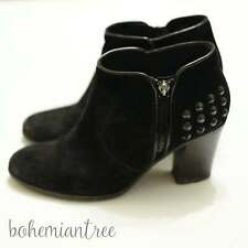 John Lewis Weekend 5 Champs Black Suede High Heeled Ankle Studded Boots 38 Studs