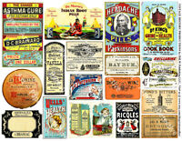 18 Druggist Labels & Drug Store Pharmacy Decor, APOTHECARY LABEL Re