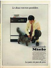 Publicité Advertising 1984 Lave Vaisselle Miele