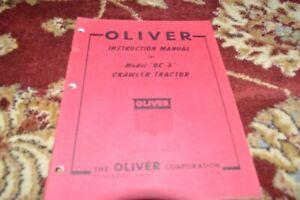 Oliver OC-3 Crawler Tractor Operator's Manual GVOH red