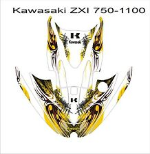 KAWASAKI ZXi 750 1100 jetski Jet Ski Graphic Kit Wrap pwc decals stickers tribal