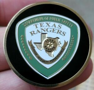 Authentic RARE Texas Rangers Department of Public Safety BLACK Challenge Coin