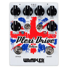 Wampler Plexi-Drive Deluxe Overdrive Distortion Guitar Effects Pedal True Bypass
