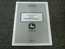 John Deere D100 D110 D120 D130 D140 D160 Tractor Owner Operator Manual OMGX24230