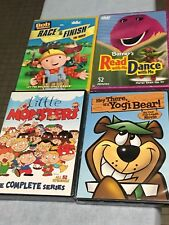 Lot Of 4 Children DVD/TV shows: Yogi Bear, Barney, Bob The Builder, Little Monst