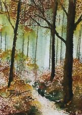ACEO ATC original art painting by Bill Lupton - Colour of Autumn