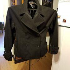 Bcbg Max Azria Wool Coat Black Double-Breasted Coat Sz Small EUC