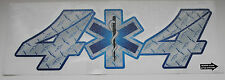 """4X4 Star of Life decal, REFLECTIVE,11.5"""" wide  #EM02"""
