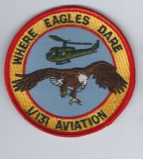 "US Army Aviation unit pocket patch, 1/131 Aviation ""Where Eagles Dare""  (A3 box)"