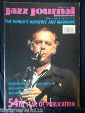 JAZZ JOURNAL INTERNATIONAL - MARCH 2001 - WARNE MARSH