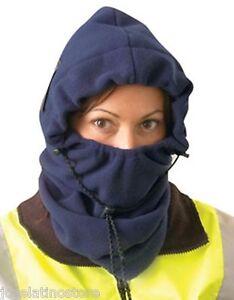 OccuNomix  3 in 1 Fleece Balaclava Safety Winter Liner Navy Blue Color