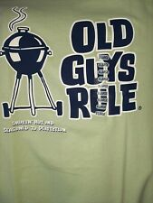Old Guys Rule Smokin' Hot/Seasoned To Perfection Large Green T-Shirt Free Ship