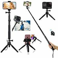 40 Inch Extendable Selfie Stick Tripod with Bluetooth Remote Control