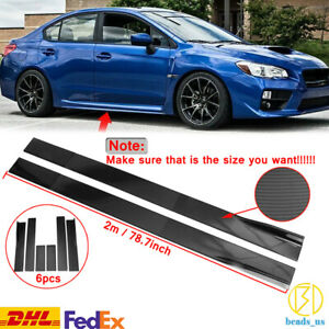 Side Skirts Extension For Subaru Impreza WRX STI Legacy Carbon Fiber Look DHL