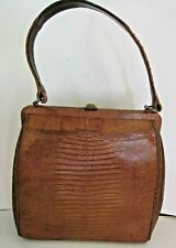 Vintage 50's Authentic Snake Skin Handbag, Light Brown