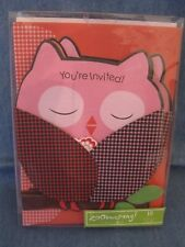 "Zoomerang Set of 10 OWL  Party Invitations Large ""You're Invited """