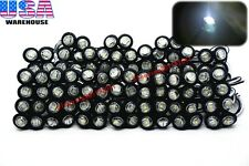 "100x 3/4"" Marker Lights Triple Diode LED Truck Trailer Clearance Indicator White"
