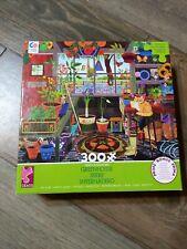 """Ceaco Jigsaw Puzzle """"Greenhouse"""" 300 Oversized Pc 24"""" x 18""""  - Complete"""