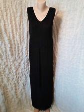 Escada Margaretha Ley incredible black maxi sleeveless dress size 8-10 UK
