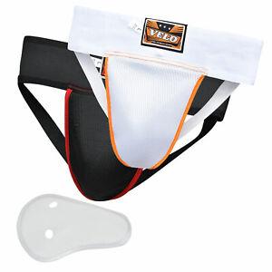 VELO Boxing Groin Guard Protector MMA Cup Box Shorts Junior Kick Gloves Abdo