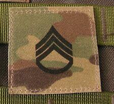 Galon US ARMY  STAFF SERGEANT - grade scratch MULTICAM rank insignia SNAKE PATCH