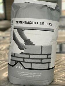 Zementmörtel 25 Kg Putzmörtel Mauermörtel Verputzmörtel - Neuware