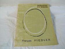 DERRIERE LE MIROIR N° 167 - OCTOBRE 1967 -  FRANCOIS FIEDLER