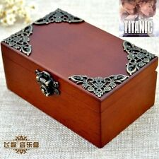 Vintage Wood Rectangle jewelry Music Box : MY HEART WILL GO ON