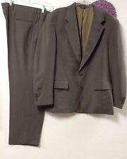 mans suit vintage Palm Beach pants 38 x 30 taupe lined jacket 44 union label 140