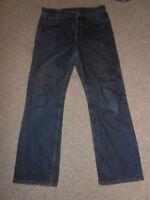 180 09 levis levi strauss jeans pantaloni uomo W33 L32 Blu Denim Jeans Uomo