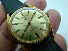 MONTRE WATCH FAVRE LEUBA GENEVE SEA KING PL OR 18CT SWISS VINTAGE 1950