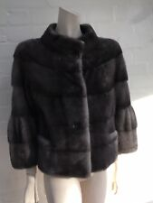 Hockley Scandinavian Sapphire Mink SAGA FUR Jacket Coat Size S Small