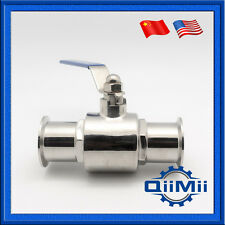 "1.5"" Stainless Straight Ball Valve 50.5mm OD Clamp Type SUS304 Full Port"
