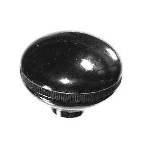 """Plain black """"mushroom"""" oval gennie shift knob: 5/16""""-24 for Jeep CJ 3 speed"""