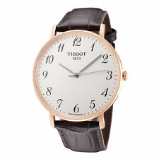 Tissot Men's T1096103603200 Desire 42mm Silver Dial Leather Watch