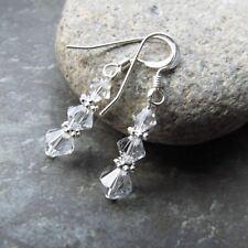 *SJ1* Sterling Silver Hook Dangle Earrings w/ Upick Birthstone Swarovski Crystal