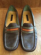 577705c064b Women s Unisa Brown Leather Textured GRETEL loafer slip shoes Size 6 1 2 B